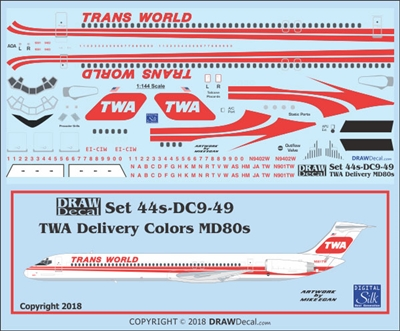 1:144 Trans World Airlines  McDD MD-80