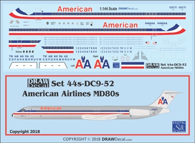 1:144 American Airlines McDD MD80