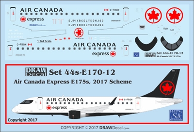 1:144 Air Canada Express (2017 cs) Embraer 175