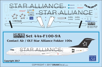 "1:144 Contact Air / OLT 'Star Alliance"" Fokker 100 (version 1)"
