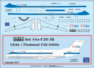 1:144 US Air (Piedmont cs) Fokker F28-4000