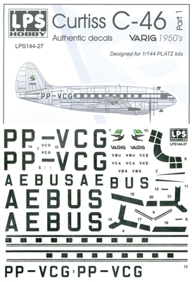 1:144 Varig (1950's cs) Curtiss C.46