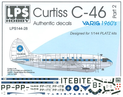 1:144 Varig (1960's cs) Curtiss C.46