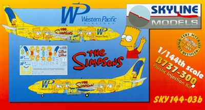 1:144 Boeing 737-300, Western Pacific 'The Simpsons'