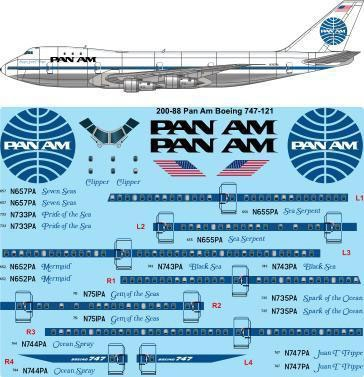 1:200 Pan Am (late) Boeing 747-100