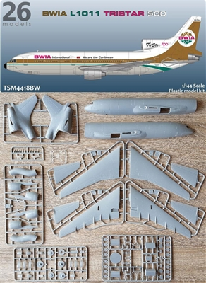 1:144 L.1011 Tristar 500, British West Indian Airlines