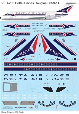 1:120 Delta Airlines (delivery cs) Douglas DC-9-14