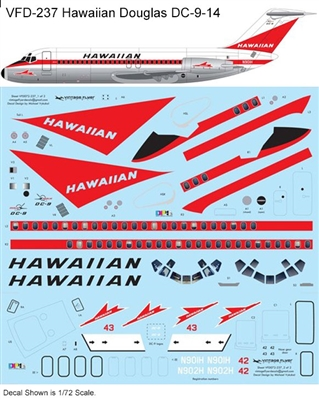 1:120 Hawaiian Airlines (delivery cs) Douglas DC-9-14