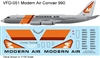1:135 Modern Air Transport (final cs) Convair 990A
