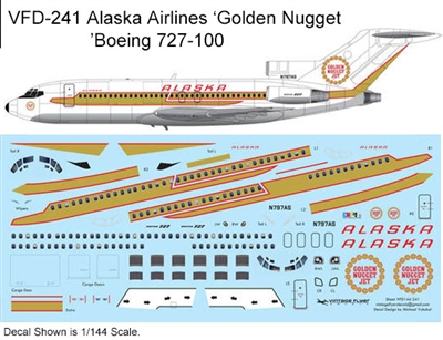 1:144 Alaska Airlines  ('Golden Nugget' cs) Boeing 727-100