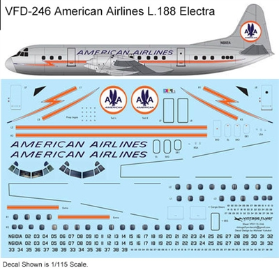 1:144 American Airlines L.188 Electra