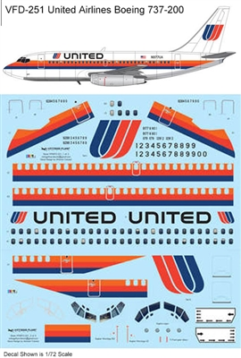 1:144 United Airlines Boeing 737-200