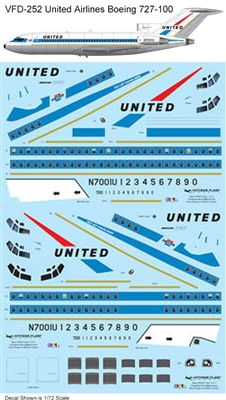 1:144 United Airlines Boeing 727-100