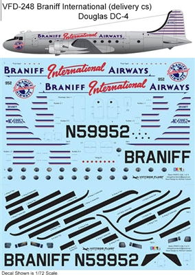 1:72 Braniff International (delivery cs) Douglas DC-4