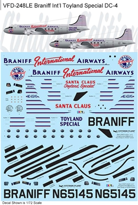 1:72 Braniff International 'Toyland Special' Douglas DC-4