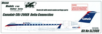 1:144 Canadair CRJ 200, Delta Connection - ASA, Comair