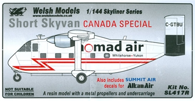 1:144 Shorts SC-7 Skyvan, Summit, Nomad Air, Alkan Air