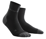 CEP Short Cut Running Socks Black/Grey