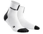 CEP Short Cut Running Socks White/Black
