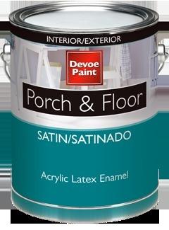 Devoe Porch Floor Interior Exterior Satin Acrylic Latex Enamel