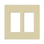 Lutron Claro Designer Style Wall Plate - CW-2-IV