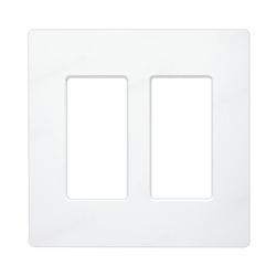 Lutron Claro Designer Style Wall Plate - CW-2-WH