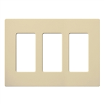 Lutron Claro Designer Style Wall Plate - CW-3-IV