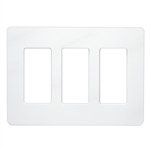 Lutron Claro Designer Style Wall Plate - CW-3-WH