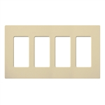 Lutron Claro Designer Style Wall Plate - CW-4-IV