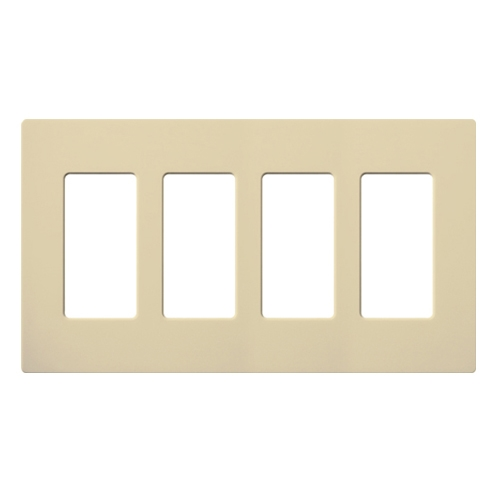 lutron claro designer style wall plate cw 4 iv. Black Bedroom Furniture Sets. Home Design Ideas