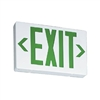 Lithonia LED Green Exit Sign With Battery