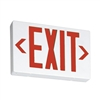 Lithonia LED Red Exit Sign With Battery