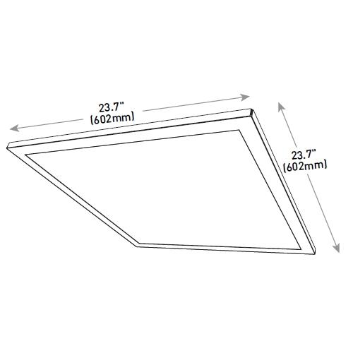Cree Essentia 2x2 Led Flat Panel Fp22 34l 40k 10v