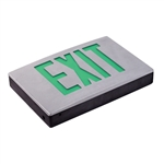 Exitronix Universal Die-cast Aluminum LED Green Exit Sign