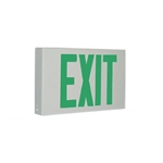 Exitronix Contractor Grade Thermoplastic LED Green Exit Sign