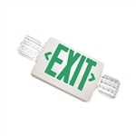 Exitronix Thermoplastic Combination Universal LED Green Exit Sign & Emergency Unit
