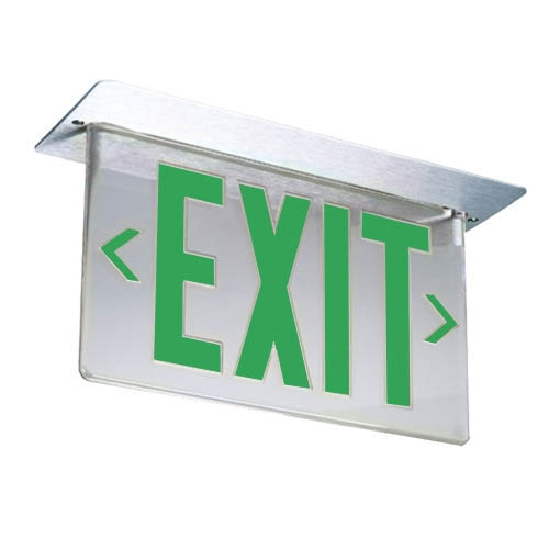 Lithonia Led Precise Edge Lit Exit Sign With Led Lamps Lrp