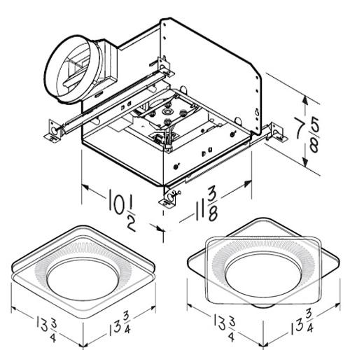 nutone - lunaura collection ventilation fan