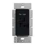 Lutron Skylark Dual Slide to Off Fan Control - S2-LFSQ-BL