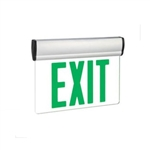 Exitronix Universal Mount LED Green Edge-lit Exit Sign