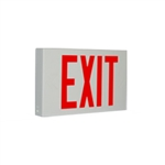 Exitronix Contractor Grade Thermoplastic LED Red Exit Sign