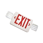 Exitronix Thermoplastic Combination Universal LED Red Exit Sign & Emergency Unit