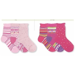 Jefferies Pick-a-Mix Crew Girls Socks - 3 Pair