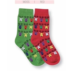Jefferies Reindeer Girls and Boys Socks - 1 Pair