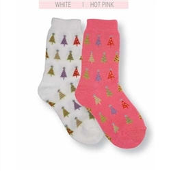 Jefferies Christmas Tree Girls Socks - 1 Pair