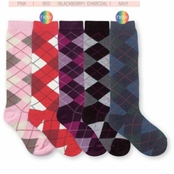 Jefferies Argyle Girls Knee High - 1 Pair