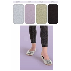 Jefferies Sparkly Footless Girls Tights - 1 Tights