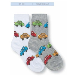 Jefferies Car Mad Boys Socks - 1 Pair