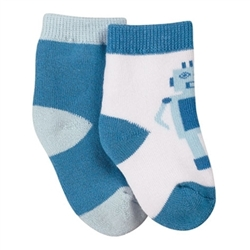 Jefferies Robot Boys Socks - 2 Pair
