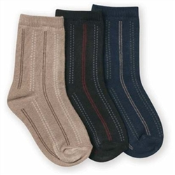 Jefferies Stripe Dress Crew Boys Socks - 1 Pair